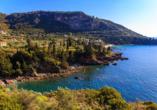 Der beschauliche Küstenort Kardamyli ist Ihr erster Urlaubsort auf der Peloponnes.