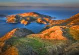 Kap Matapan, auch Kap Tenaro genannt, ist die Südspitze der Halbinsel Mani auf dem griechischen Peloponnes.