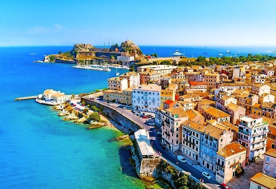 Die Inselhauptstadt Kerkyra oder auch Korfu-Stadt erwartet Sie!