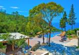 Das Hotel Blue Princess Beach Resort bietet einen einmaligen Panoramablick auf das Ionische Meer.