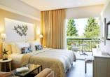 Beispiel eines Superior Doppelzimmers Gartenblick im Hotel Delfinia