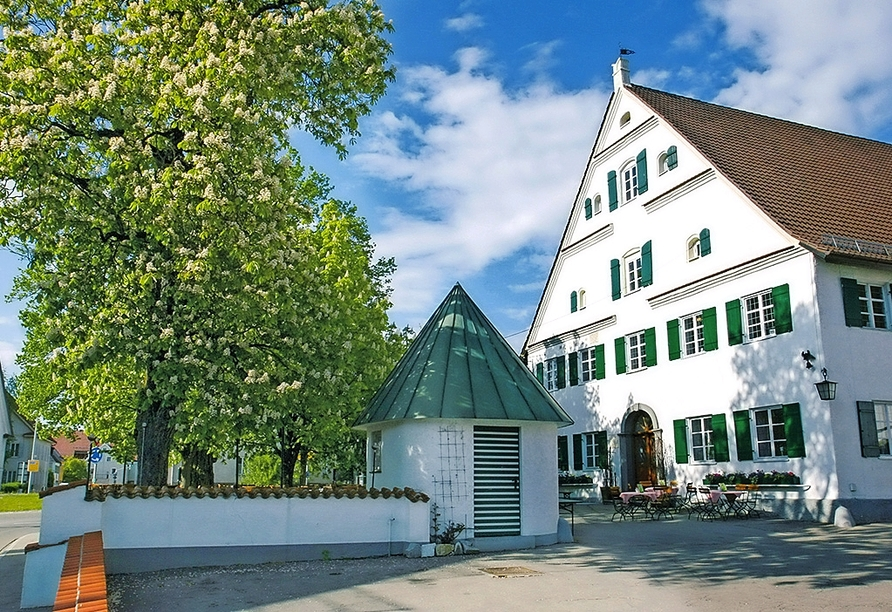 Hotel Munding in Krumbach Mittelschwaben, Außenansicht