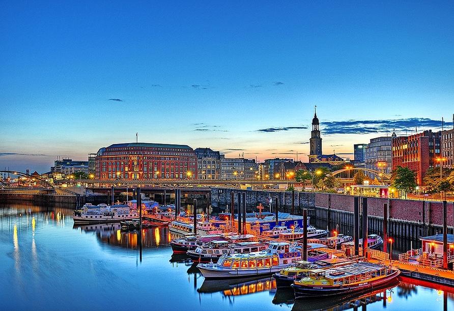 Die Hansestadt Hamburg lohnt sich immer für einen Besuch.