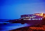 Hotel Estalagem do Mar in São Vicente, Außenansicht Nacht