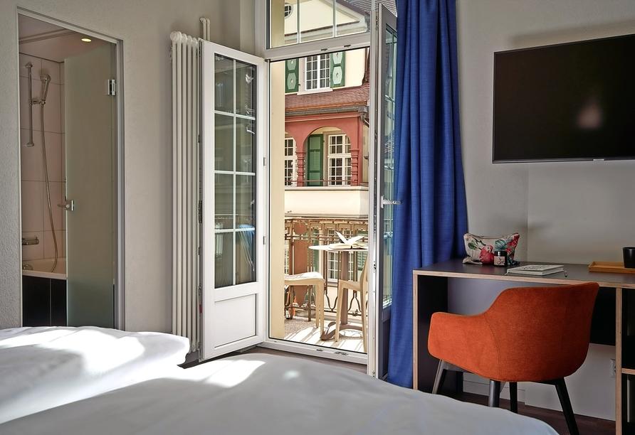 The Hey Hotel Interlaken, Zimmerbeispiel eines Superior Zimmers