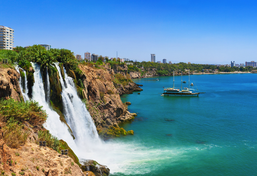 Städteerlebnis und Küstenregionen, Karpuzkaldiran-Wasserfälle