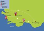 Städteerlebnis und Küstenregionen, Reisezielkarte