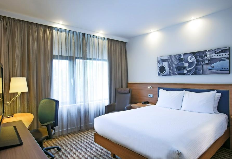 Beispiel eines Doppelzimmers im Hampton by Hilton Amsterdam Airport Schiphol