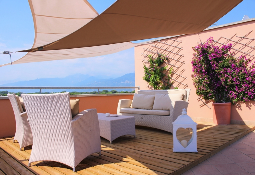 Toskana – Kultur und La Dolce Vita, Beispielhotel Hotel Piccolo Mondo, Terrasse