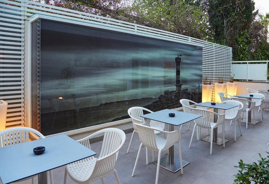 Hotel BQ Amfora Beach, Außenterrasse