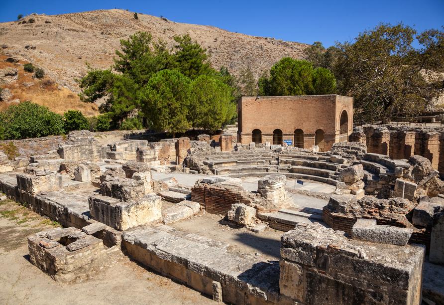 Mietwagen-Rundreise Kreta, Ausgrabungen Gortyn, Odeons Ruinen