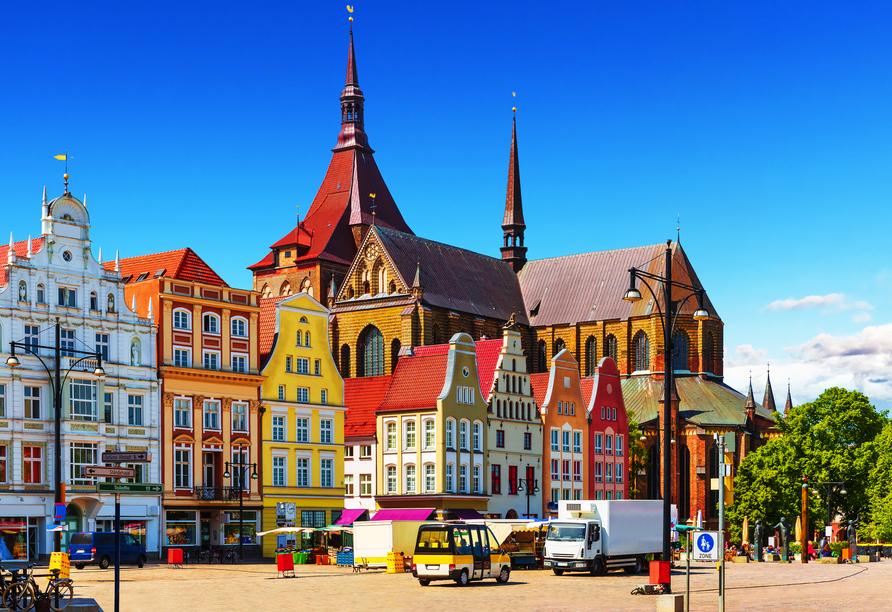 Besuchen Sie die schöne Hansestadt Rostock.