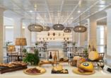 In den beiden Restaurants des Hotels können Sie sich kulinarisch verwöhnen lassen.