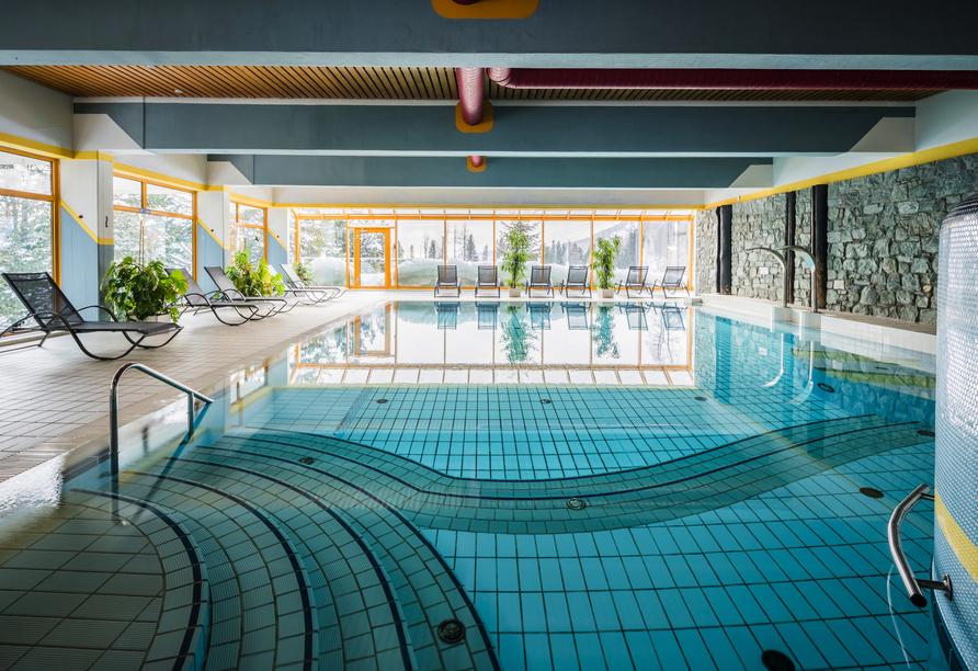 Panorama Hotel Turracher Höhe in Ebene Reichenau, Österreich, Hallenbad