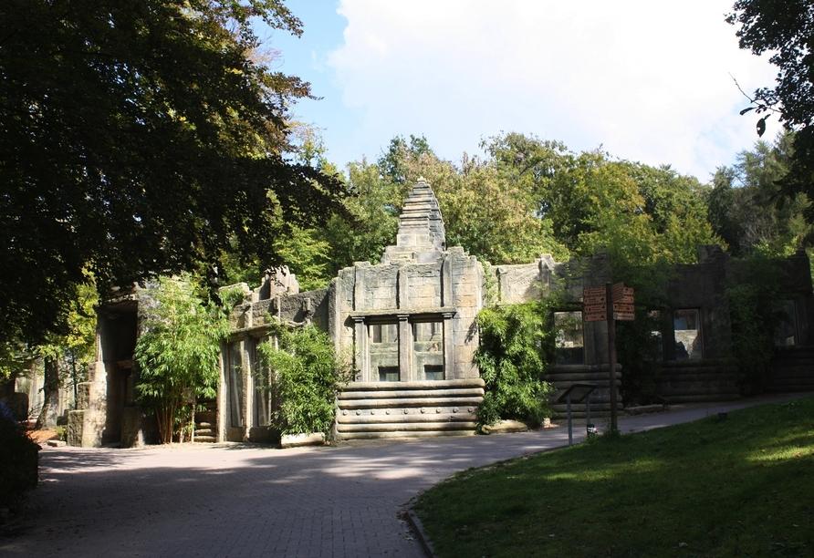 Besuchen Sie den Affentempel im Osnabrücker Zoo.