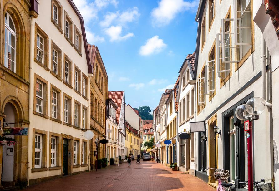 Schlendern Sie durch die hübsche Altstadt von Osnabrück.