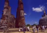 Die Ruinenstadt Polonnaruwa in der Nördlichen Zentralprovinz von Sri Lanka war einst Hauptstadt des singhalesischen Königreichs.