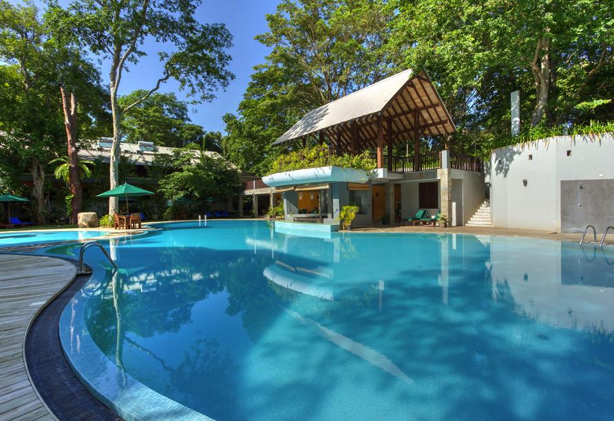 Außenpool vom Beispielhotel Grand Udawalawe Safari Resort.