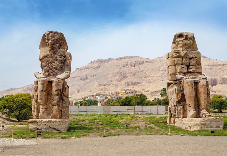 Nil Highlights & Badurlaub in Hurghada, Luxor Memnon-Kolosse