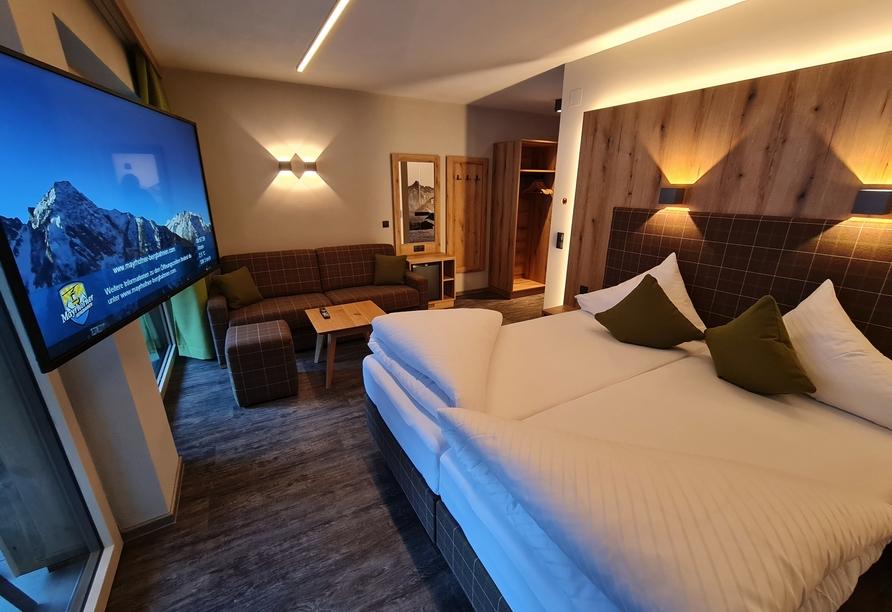 Hotel der Siegeler in Mayrhofen, Zimmerbeispiel
