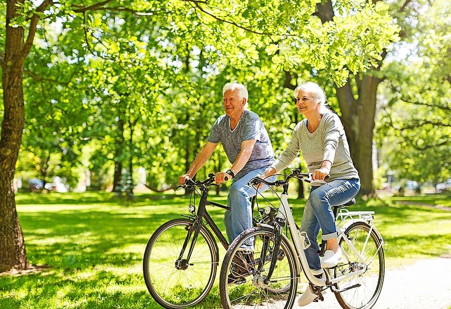 Erkunden Sie das Bayerische Bäderdreieck auf zwei Rädern.
