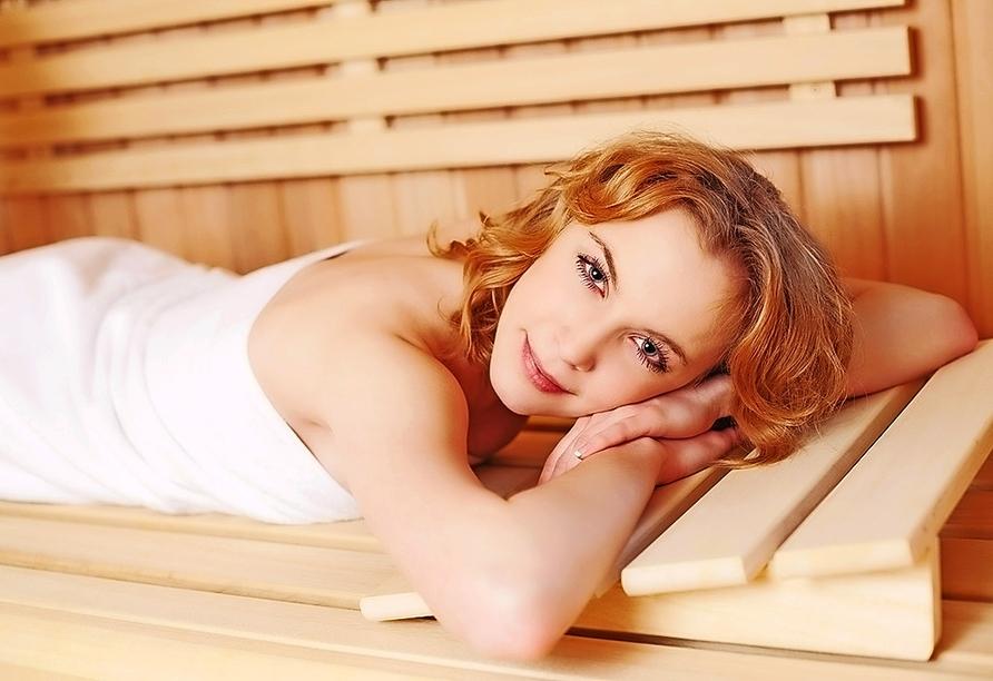 Die Finnische Sauna bietet Ihnen Wellness pur.