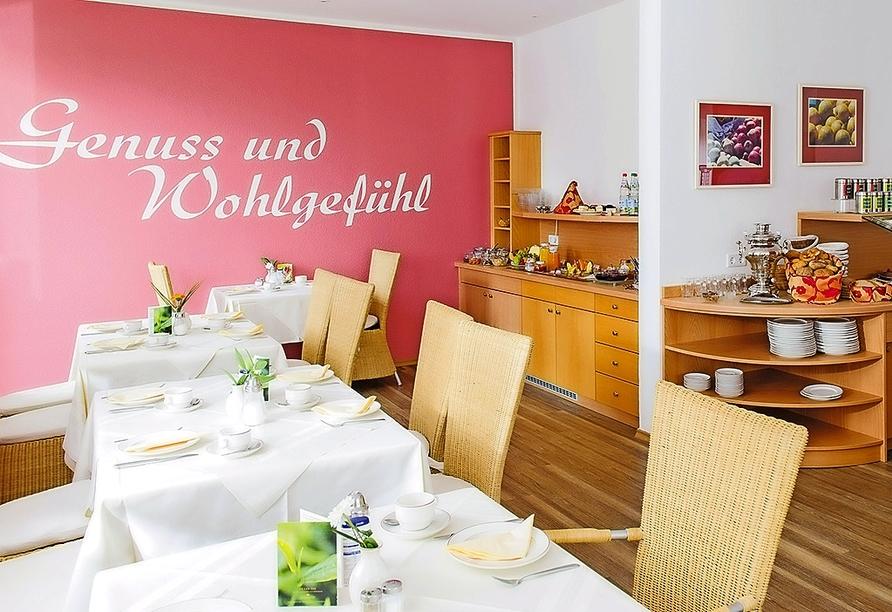 Beim Frühstück im Kurhotel Schatzberger starten Sie gut in den Tag.