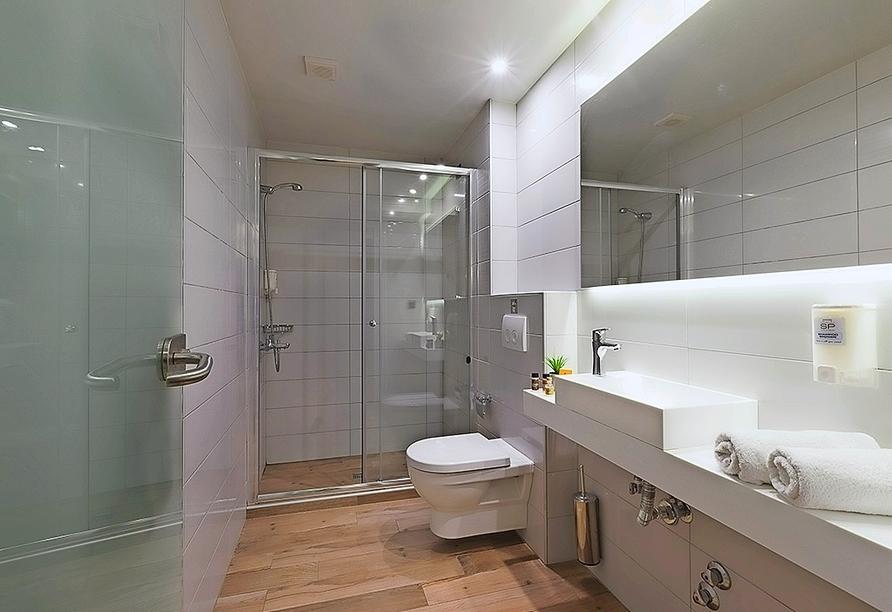 Beispiel eines Badezimmers im Hotel San Panteleimon in Platamonas