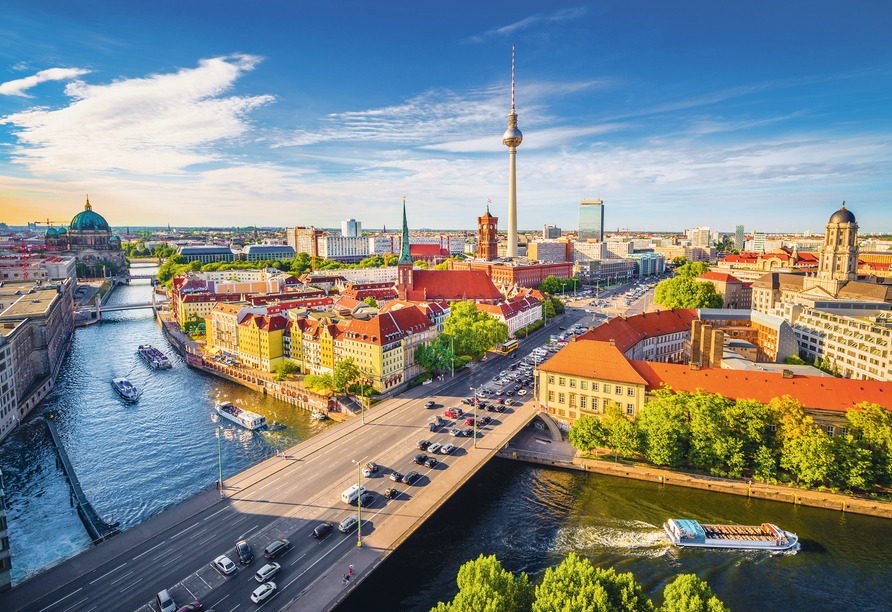Erkunden Sie die grünen Seiten von Berlin.
