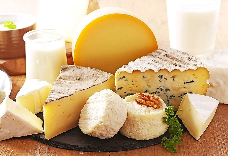 Kosten Sie leckeren Käse in der Schaukäserei Capriz.