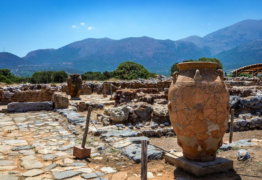 Antike Amphore in Malia auf Kreta