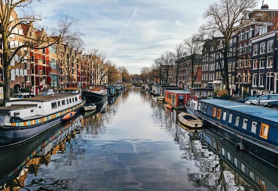 MS Amelia, Amsterdamer Grachten