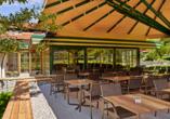 Hotel Jägerhof in Oetz, Terrasse