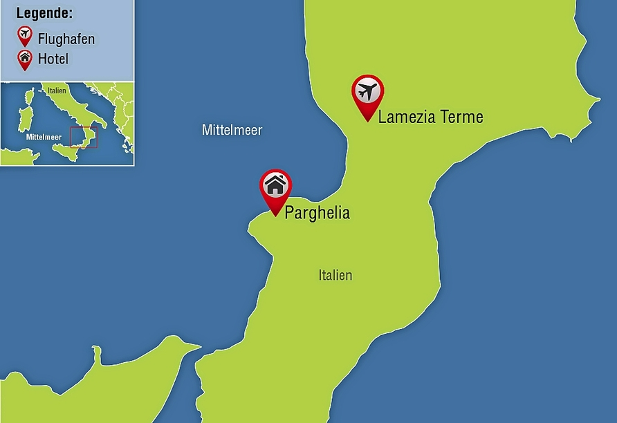 Hotel Cannamele, Karte