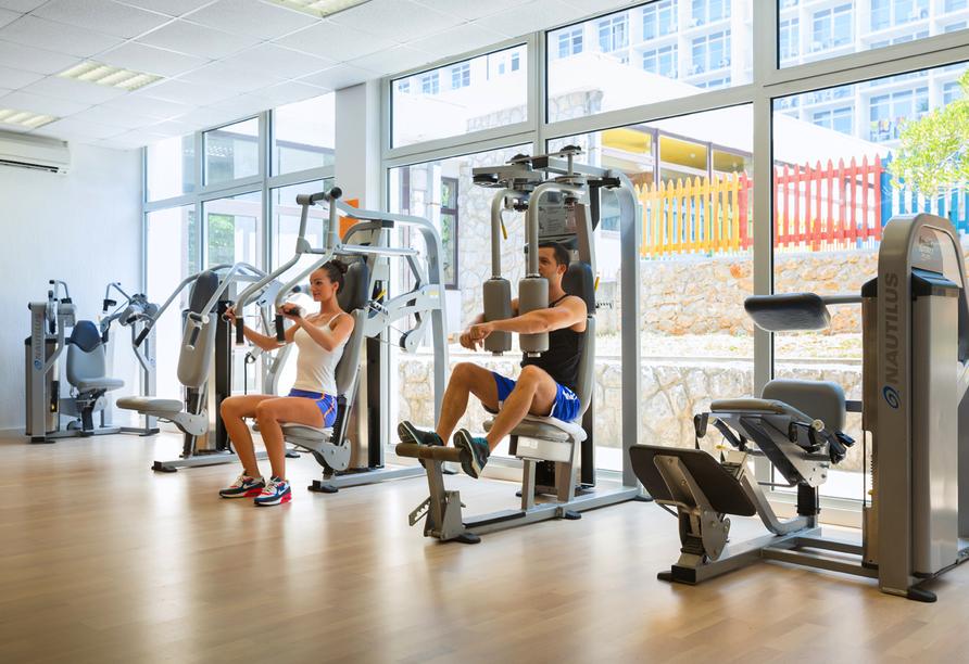 Hotel Aminess Magal in Njivice, Kroatien, Fitnessstudio