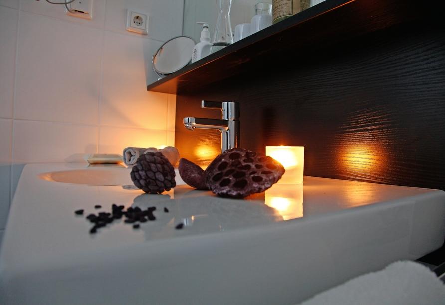 Hotel Schempp in Bobingen, Beispiel eines Badezimmers