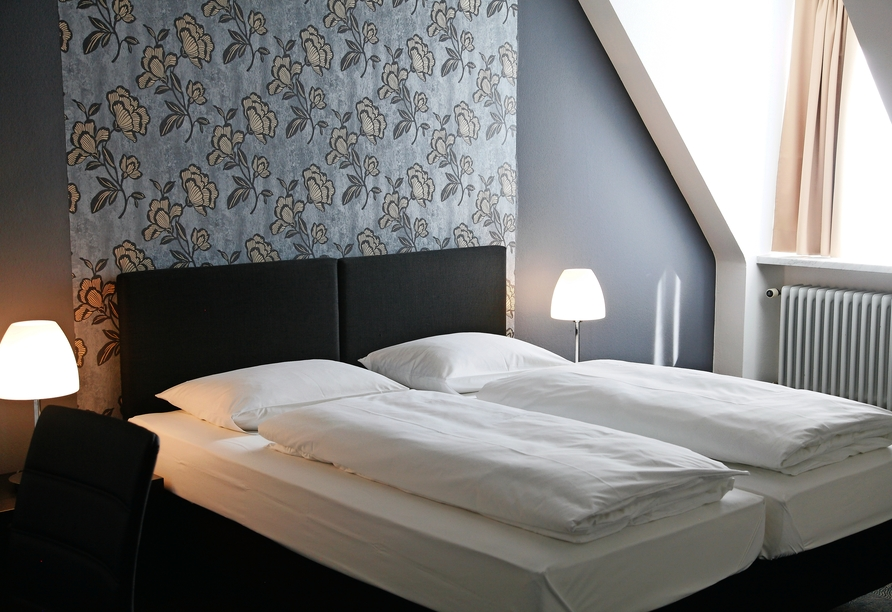 Hotel Schempp in Bobingen, Beispiel eines Doppelzimmers