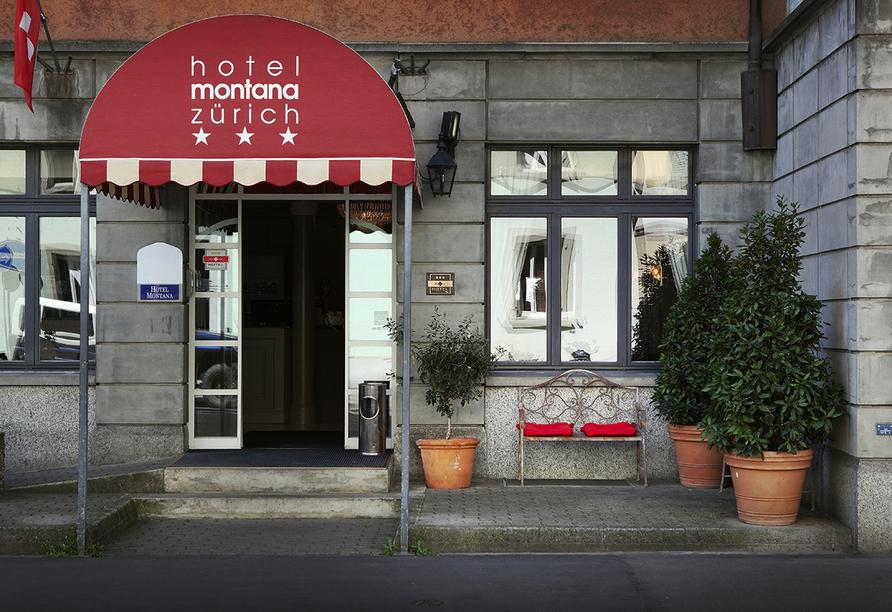 Hotel Montana in Zürich, Schweiz, Außenansicht