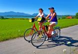 Genießen Sie eine einfache Radtour mit kurzen Etappen und wenigen Steigungen.