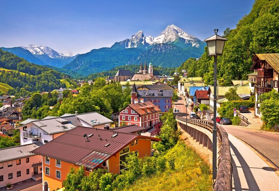 In Berchtesgaden werden Sie von einem einmaligen Bergpanorama begrüßt.