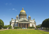 Die prachtvolle Isaakkathedrale gilt als Wahrzeichen von St. Petersburg.