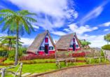 Die freie Zeit können Sie für einen Ausflug nach Santana mit den typischen Stroh bedeckten Häusern nutzen.