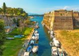 Veneziansiche Burgruinen auf Korfu.