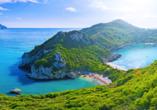 Traumhafte Bucht auf einer der Ionischen Inseln.